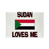 Sudan Loves Me Rectangle Magnet (10 pack)
