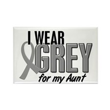 I Wear Grey For My Aunt 10 Rectangle Magnet (10 pa
