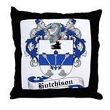 Hutchison Family Crest Throw Pillow