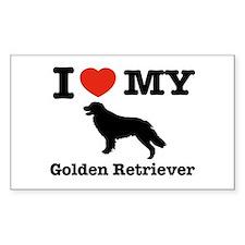I love my Golden Retriever Rectangle Decal