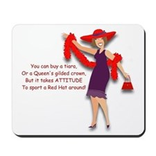 Red Hatter Mousepad