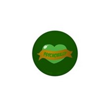 Psychobilly Heart Mini Button (10 pack)