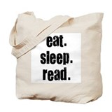 Eat Sleep Read Tote Bag