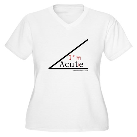 I'm a cutie - Women's Plus Size V-Neck T-Shirt