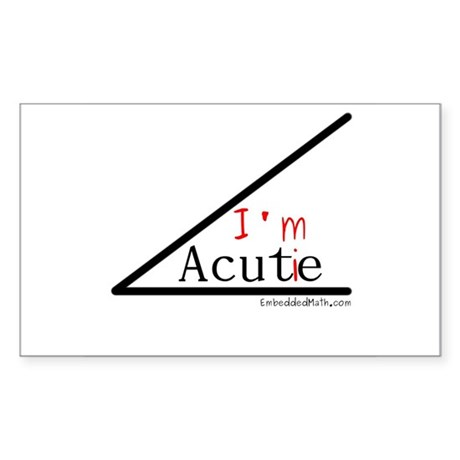 I'm a cutie - Rectangle Sticker 10 pk)