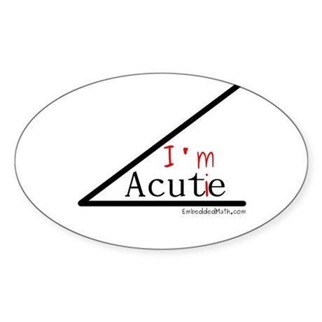 I'm a cutie - Oval Sticker