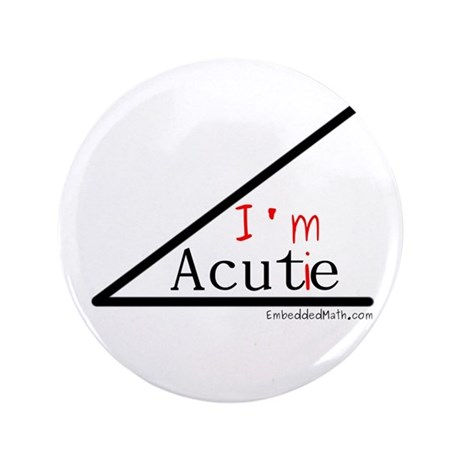 "I'm a cutie - 3.5"" Button (100 pack)"