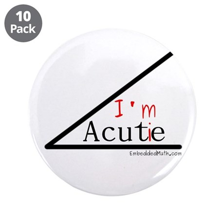 "I'm a cutie - 3.5"" Button (10 pack)"
