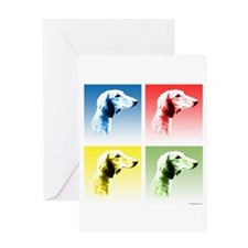 Saluki Pop Greeting Card