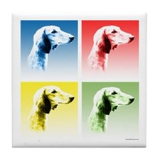 Saluki Pop Tile Coaster