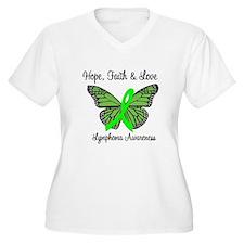 Lymphoma Hope Butterfly T-Shirt