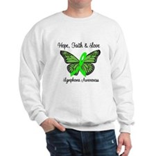 Lymphoma Hope Butterfly Sweatshirt