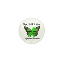 Lymphoma Hope Butterfly Mini Button (10 pack)