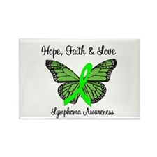 Lymphoma Hope Butterfly Rectangle Magnet (10 pack)