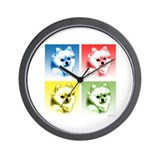 Pomeranian Pop Wall Clock