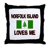 Norfolk Island Loves Me Throw Pillow