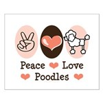 Peace Love Poodle Small Poster