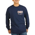 Peace Love Poodle Long Sleeve Dark T-Shirt