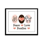 Peace Love Poodle Framed Panel Print