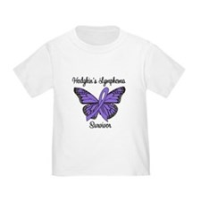 Hodgkin's Survivor Butterfly T