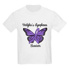 Hodgkin's Survivor Butterfly T-Shirt