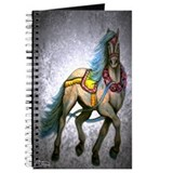 Gray Prancer carousel horse Journal