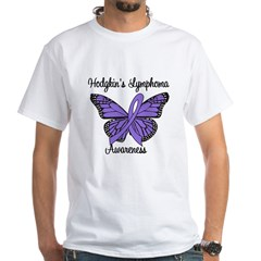Hodgkin's Lymphoma Awareness White T-Shirt