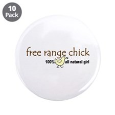 "Free Range Chick (2008) 3.5"" Button (10 pack)"
