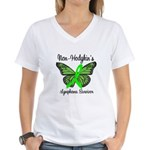 Non-Hodgkin's Survivor Women's V-Neck T-Shirt