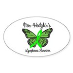 Non-Hodgkin's Survivor Oval Sticker (10 pk)