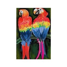 Cute Tropical birds Rectangle Magnet (10 pack)