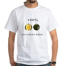 100% Zucchini-Free White Tee w/ Graphic