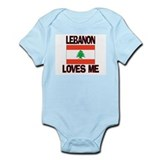 Lebanon Loves Me Infant Bodysuit