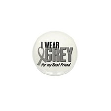 I Wear Grey For My Best Friend 10 Mini Button (10