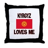 Kyrgyz Loves Me Throw Pillow