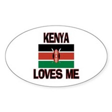 Kenya Loves Me Oval Decal