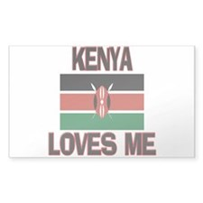 Kenya Loves Me Rectangle Decal