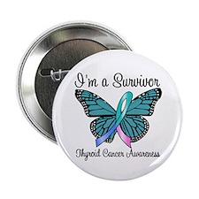 """Thyroid Cancer Survivor 2.25"""" Button (10 pack)"""