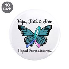 "Thyroid Cancer Hope 3.5"" Button (10 pack)"