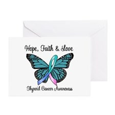 Thyroid Cancer Hope Greeting Cards (Pk of 10)