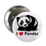 "I Love Pandas 2.25"" Button (10 pack)"