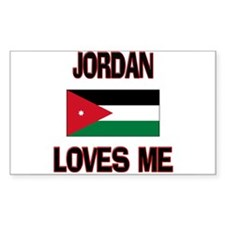 Jordan Loves Me Rectangle Decal