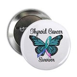 "Thyroid Cancer Survivor 2.25"" Button"