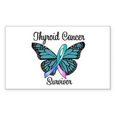 Thyroid Cancer Survivor Rectangle Sticker 10 pk)
