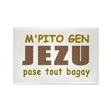 Cute Haitian Rectangle Magnet (100 pack)