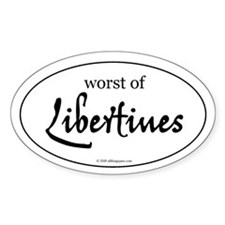 Worst of Libertines Oval Decal