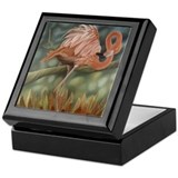 Flamingos Keepsake Box