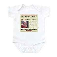 born in 1978 birthday gift Infant Bodysuit