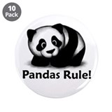 "Pandas Rule! 3.5"" Button (10 pack)"