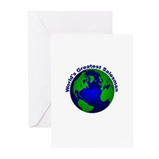 World's Greatest Salesman Greeting Cards (Pk of 10